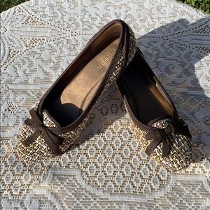 Anthropologie Seychelles Tweed Fabric Kitten Heels